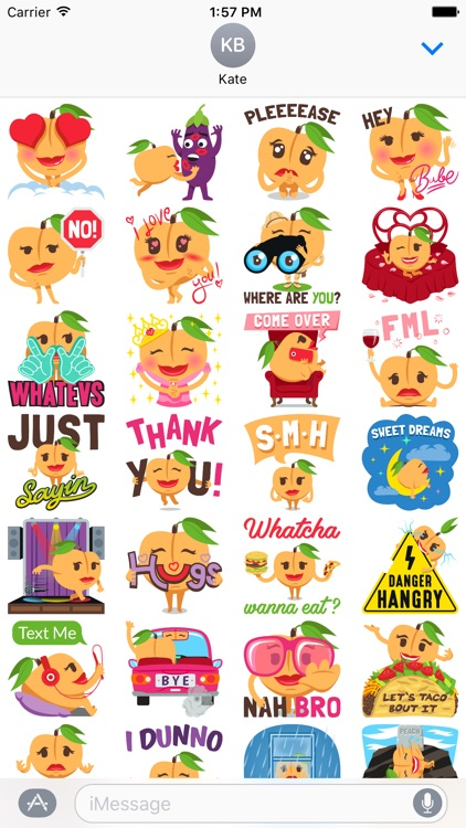 A Peach Life: Emoji inspired stickers by EmojiOne