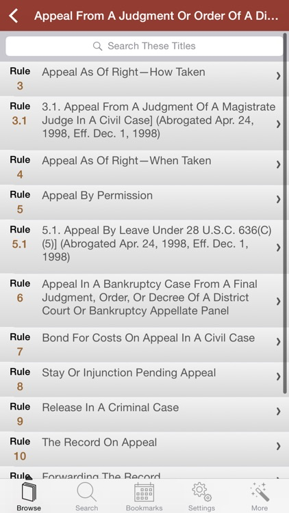 Federal Rules of Appellate
