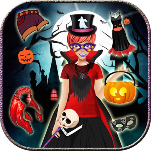 Halloween dress up game - Real Halloween girls icon
