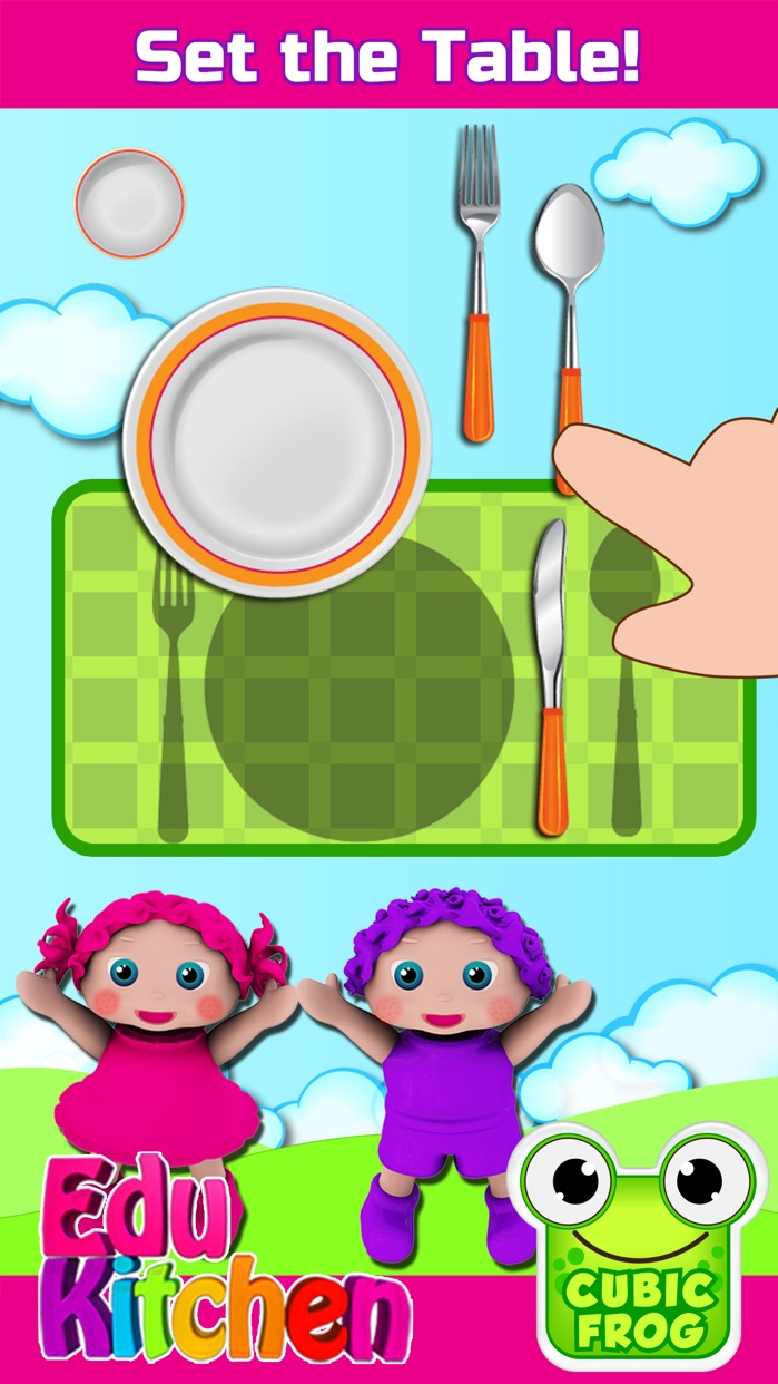 Toddler Kitchen Cooking Games-EduKitchen Girl Free Screenshot