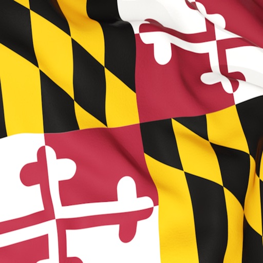 Maryland Flag Stickers