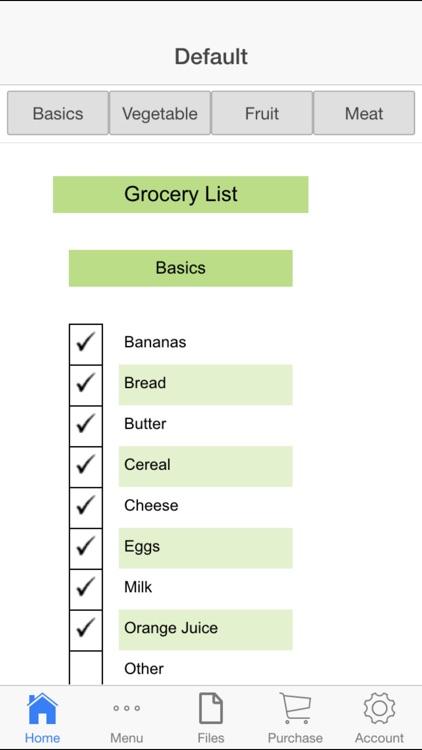 Shopping Lists App