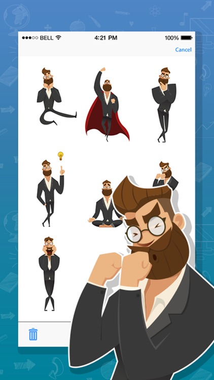 Hipster Look Expressions Stickers