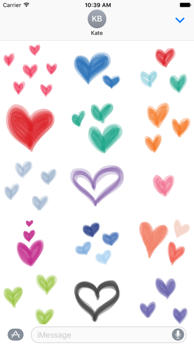 Pastel Heart sticker - love stickers for iMessage screenshot two