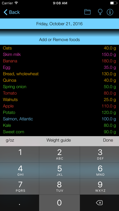 Omega-3 Counter and Tracker for Healthy Food Diets screenshot two