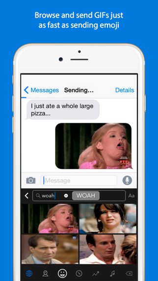 Screenshot for GIF Keyboard in Russian Federation App Store