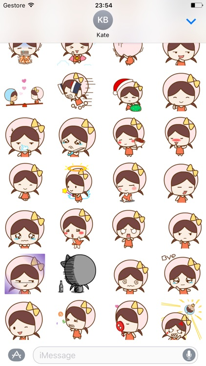 Little Girl - Animated Stickers And Emoticons screenshot-3