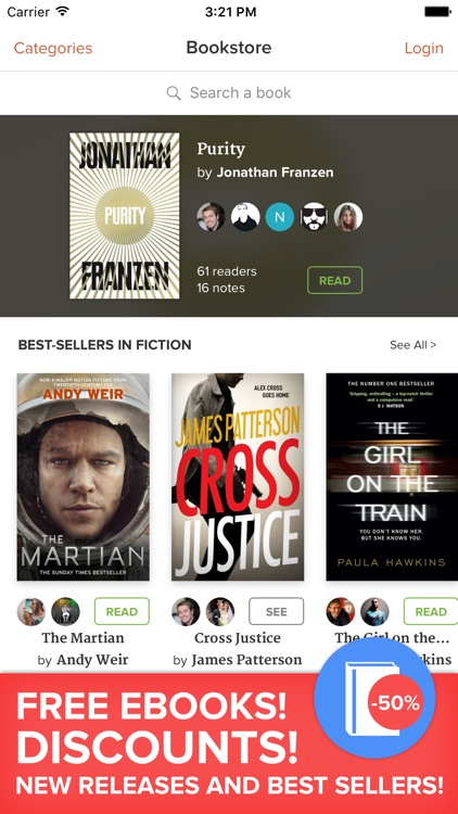 Glose - social eBook Reader & Free ebooks screenshot-0