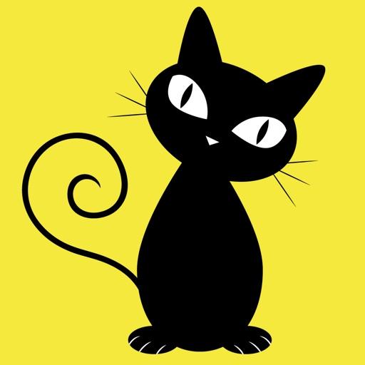 Black Cats Elegant Stickers