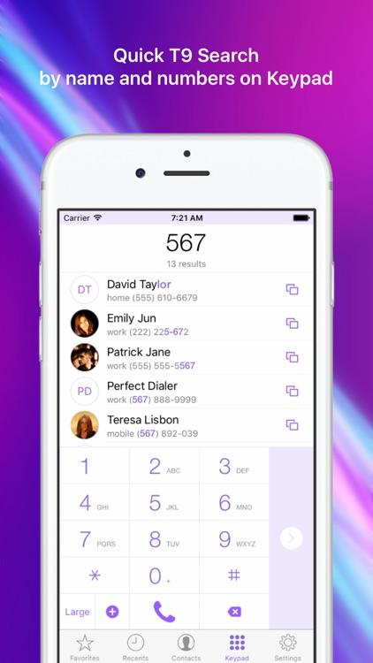 Perfect Dialer - Favorites Widget Dial & SMS screenshot-3
