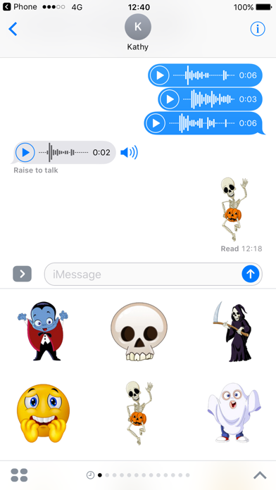 Zombie Stickers for Halloween Texting screenshot one