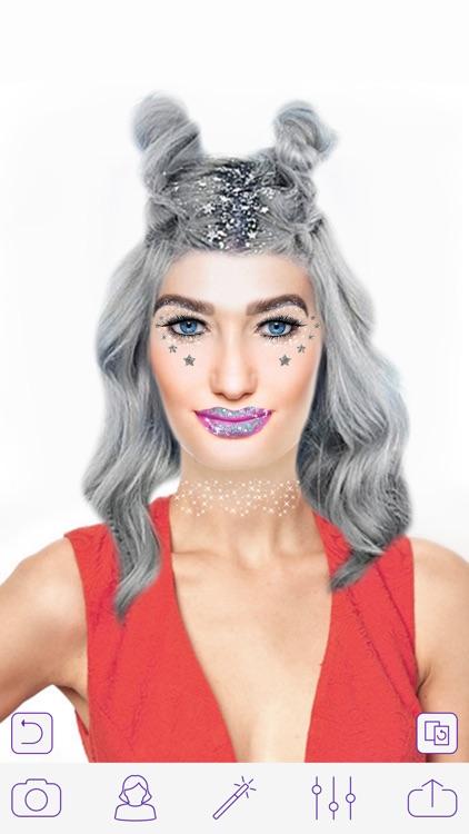 Glitter Makeup Camera - Glamour Makeup Effect screenshot-3