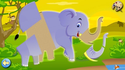 Giochi per bimbi e bambini Gratis: Savana Puzzle