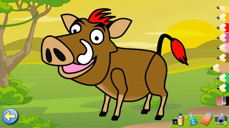 Savanna Animals: Toddlers Games Puzzles Kids Free screenshot-4