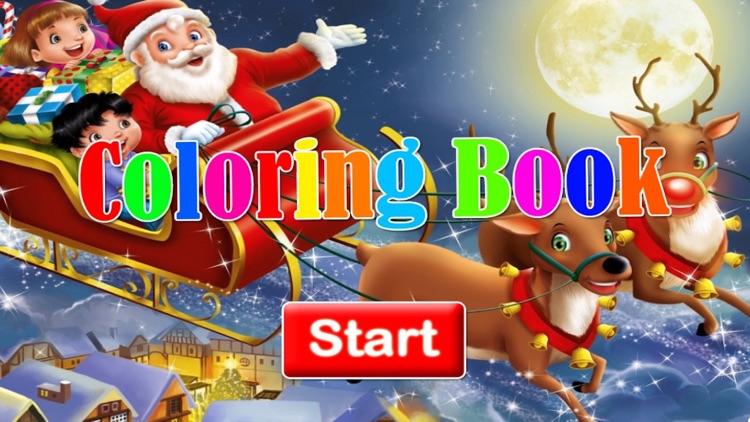 Santa Claus Christmas coloring book! For kids screenshot-3