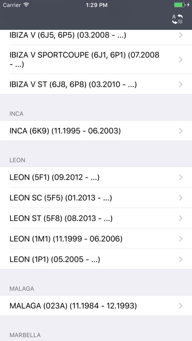 Screenshot for Car Parts for Seat - ETK, OEM in Poland App Store