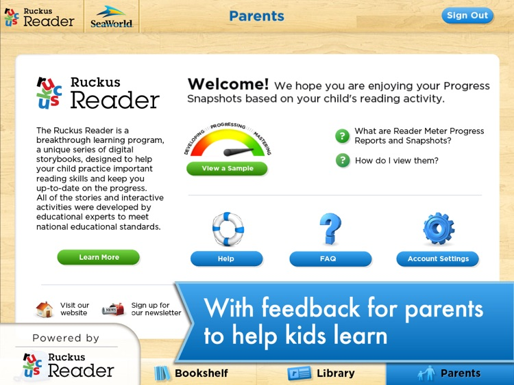 SeaWorld: Ruckus Reader screenshot-3
