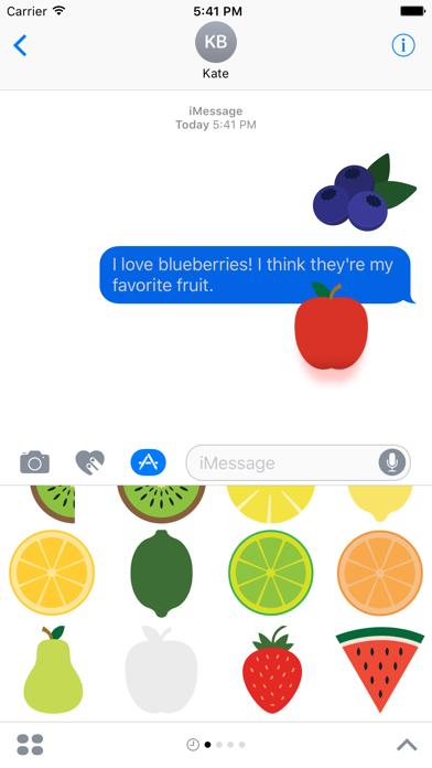 Fruits Sticker Pack for iMessage screenshot three