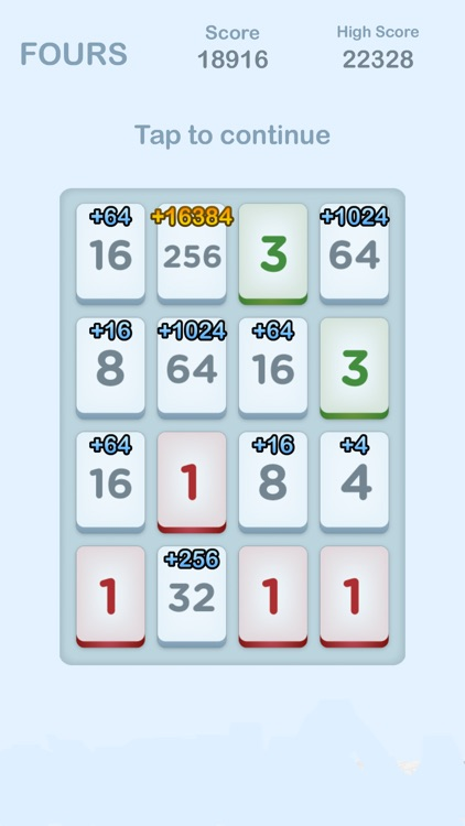 Fours - 2048 Number Puzzle Game
