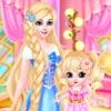 プリンセスと赤ちゃんのメイクアップスパ - しかし、富士かすかなサロン変身