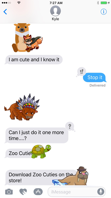 Zoo Cuties: Cute Animal Stickers for iMessage screenshot one