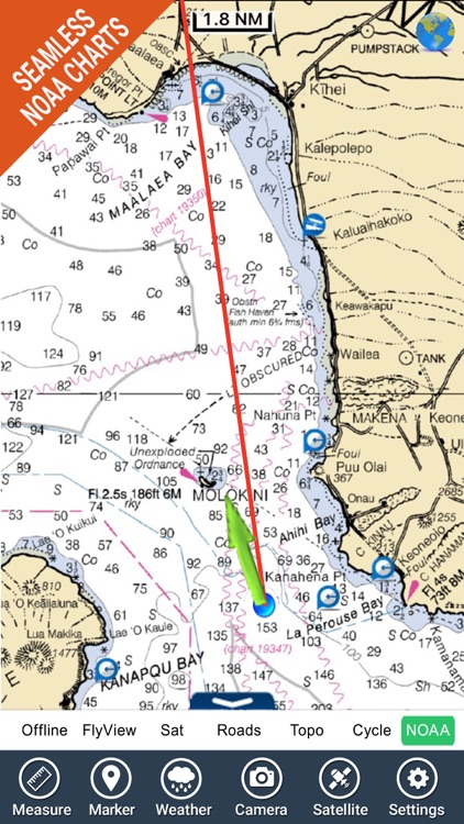 Boating Hawaii GPS kml map nautical fishing charts
