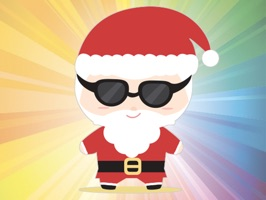 """Super cute Santa Claus"" is stickers with images of Santa Claus"