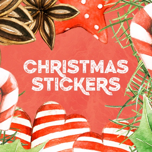 Christmas Watercolor Stickers