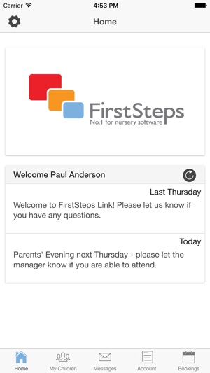 FirstSteps Parent Link on the App Store
