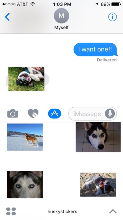 Husky Stickers for iMessage