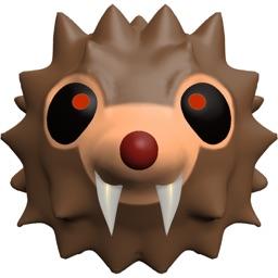 HedgeHoger Heads Halloween Stickers
