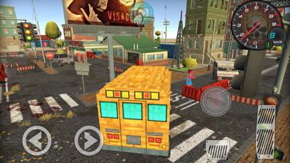 Pixel School Bus Free Style Driving screenshot 4