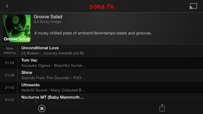 SomaFM Radio Player Screenshots