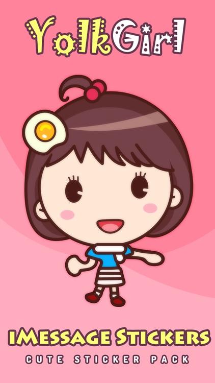 Yolk Girl - Cute Stickers by NICE Sticker screenshot-4