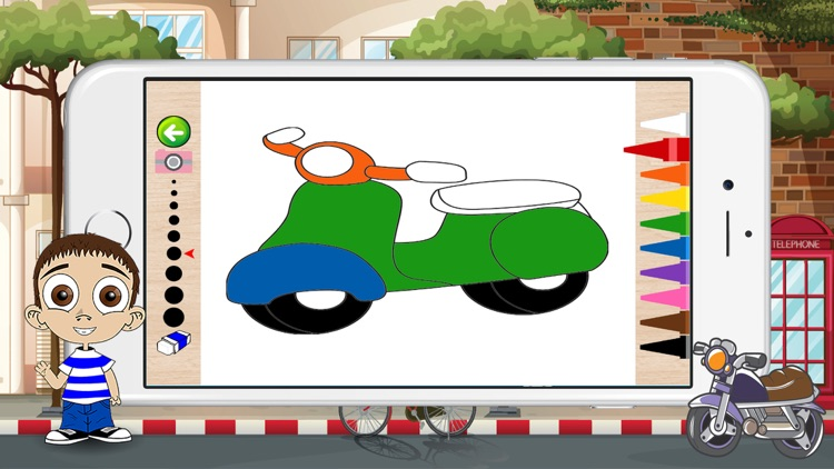 Motorcycle Coloring Book For Kids