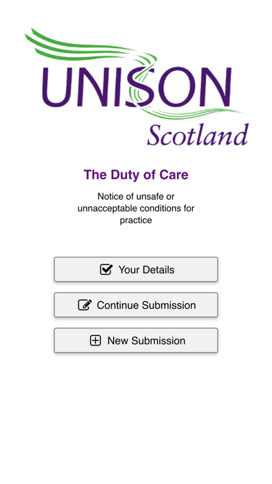 Duty of Care - UNISON Scotland screenshot one