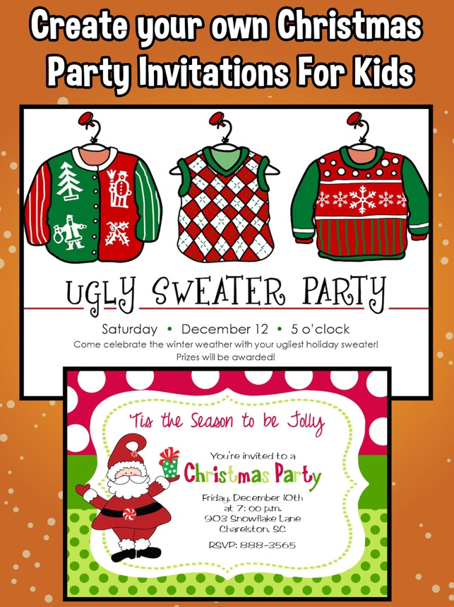 Christmas Party Invitations For Kids on the App Store