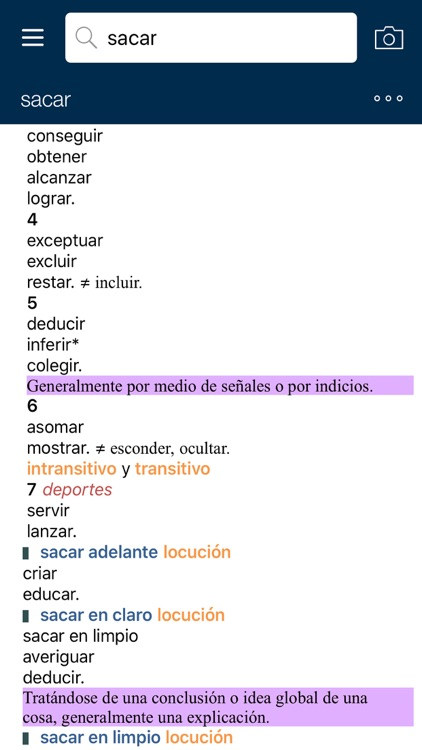 VOX General Spanish Dictionary and Thesaurus screenshot-3
