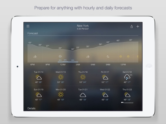 Screenshots for Yahoo Weather for iOS