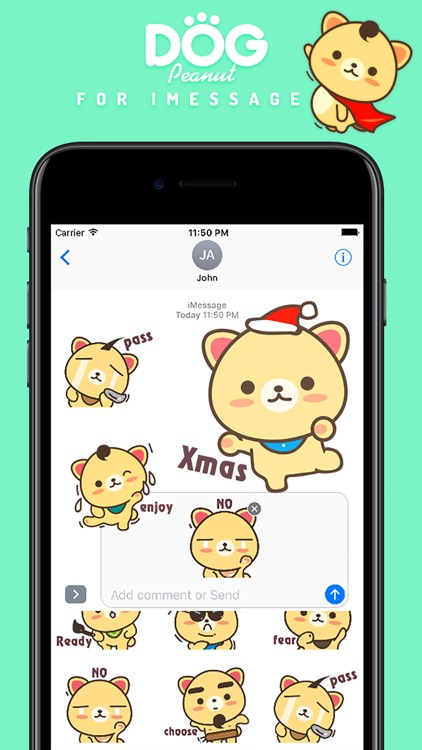Peanut Dog Sticker Pro - Christmas New Year Emoji screenshot-3
