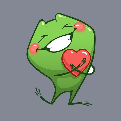 Frog Emotion Cute Sticker
