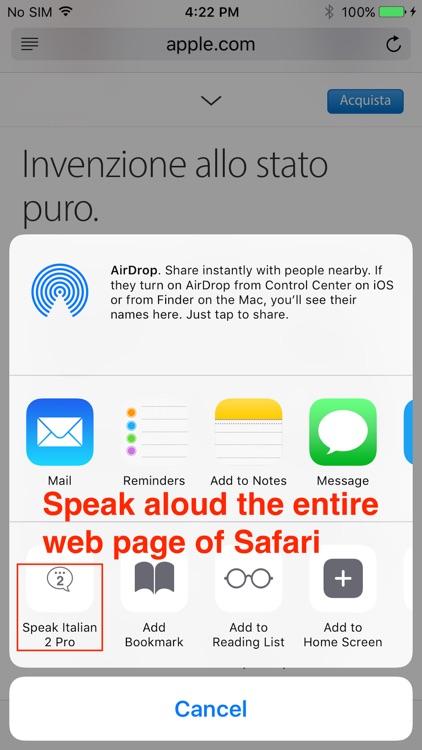 SpeakItalian 2 Pro (6 Italian Text-to-Speech) screenshot-4