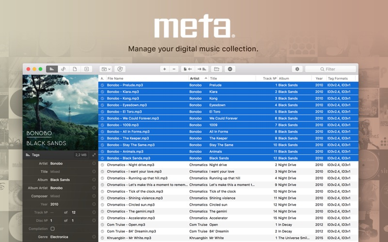 Meta – music tag editor Screenshot