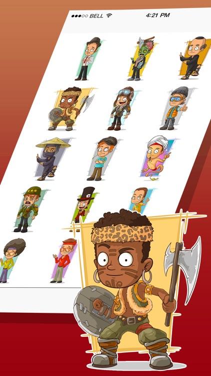 Mr.Sam Professions Stickers
