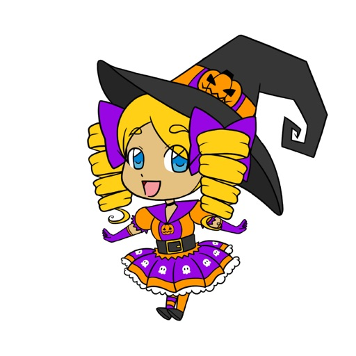 Lilly The Pumpkin Witch Stickers