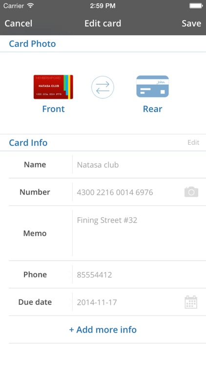 Card Mate Pro- credit cards