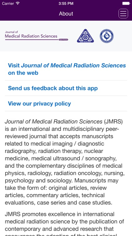 Journal of Medical Radiation Sciences screenshot-3