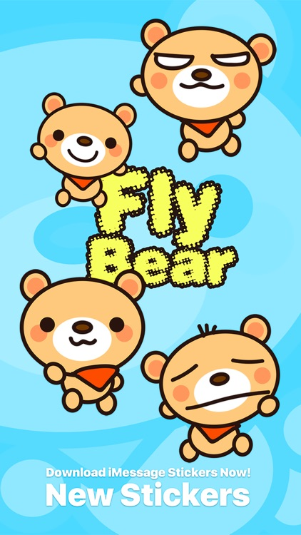 Fly Bear - Cute Stickers by NICE Sticker