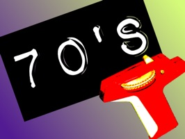 70's Slang Animated Retro Labels