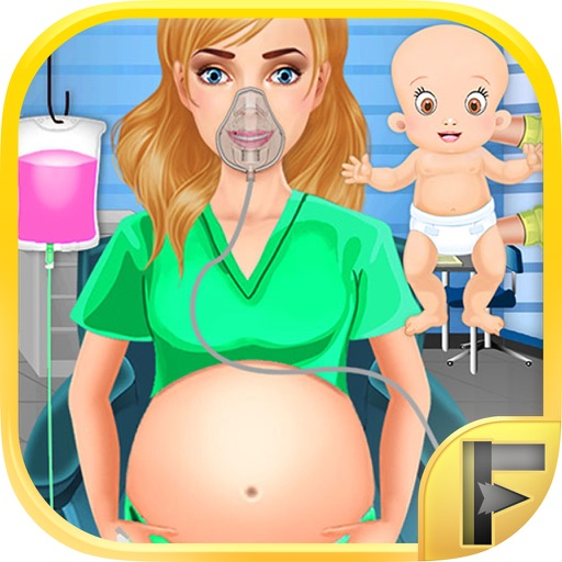 Little Maternity Baby Doctor Medic Free Kids Games iOS App